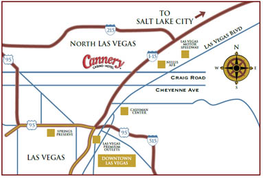 Cannery Hotel & Casino Map